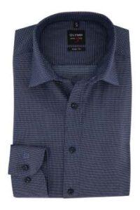 overhemd-olymp-mouwlengte-7-donkerblauw-level-5