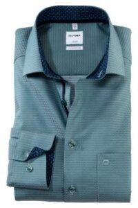 olymp-overhemd-luxor-comfort-fit-groen-printje